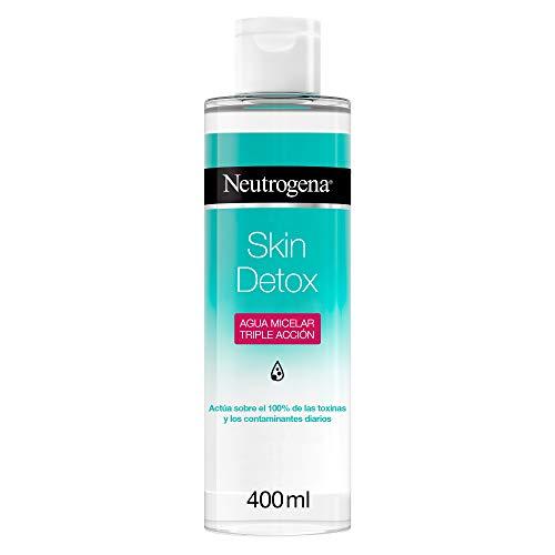 Neutrogena Skin Detox Agua Micelar Triple Acción con Ácido Glicólico, 400 ml