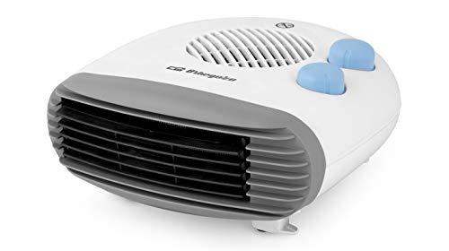Orbegozo 13359 Calefactor Compacto, Función Ventilador, Termostato Regulable, Protección contra Sobrecalentamiento, 2000 W, Blanco