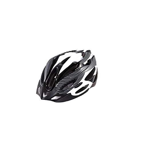 Odoukey Bicicleta de montaña Casco Ligero Carcasa del Casco cómodo Bicicleta BMX Casco de Seguridad al Aire Libre para los Deportes al Aire Libre Tamaño Negro Blanco 1PC
