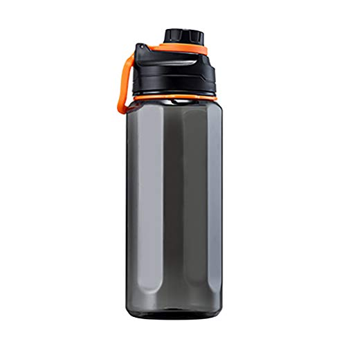 Dairxu Large Capacity Outdoor Sports Water Bottle Water Cups Drop Resistant Fitness With Straw Bike Running Gym Leak Proof Sports Water Bottle Top Cap Filter And Protein Shaker Bottle (Black, B)