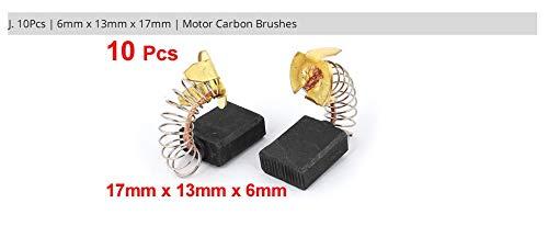 Kein X-Baofu-Logo, 10 Stück, Ersatz-Kohlebürsten für Bohrmaschine, 11 mm, 13 mm, 15 mm, 16 mm, 17 mm, 6 mm, 7,5 mm, 7 mm, 8 mm. Jx10 6mmX13mmX17mm