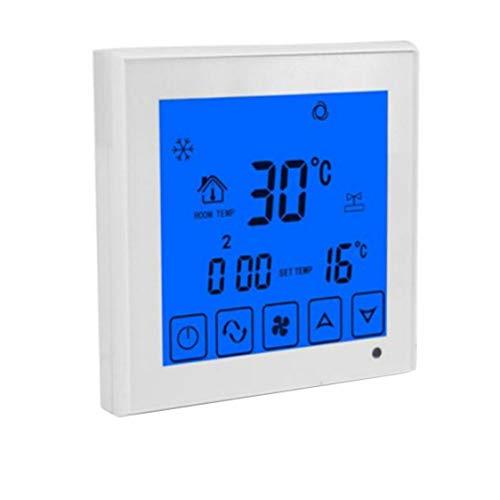 Dynamovolition Sistema de Aire Acondicionado de CA termostato eléctrico Control de Velocidad del Ventilador Termostato de Ambiente Digital programable HY03BW