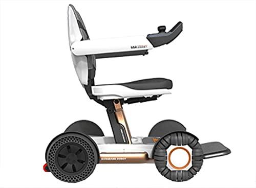 LLKK Smart scooter eléctrico silla de ruedas control remoto automático plegable luz batería de litio personas mayores discapacitadas
