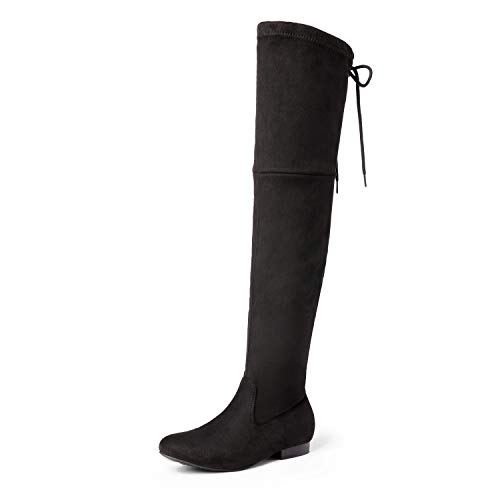 DREAM PAIRS Women's Over The Knee Thigh High Flat Boots