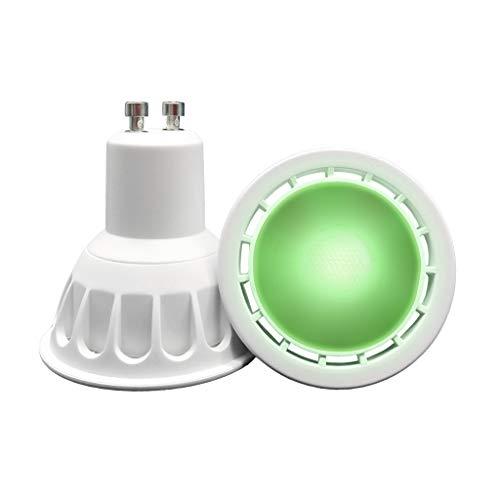 Preisvergleich Produktbild VARICART GU10 COB LED Glühbirne Farbe Grün,  6W MR16 60° Strahlwinkel,  50W Halogen Gleichw.500lm,  Spezial Scheinwerfer Glühbirne für Raum,  Stimmungs,  Dekorative und Festliche Beleuchtung (8er Pack)