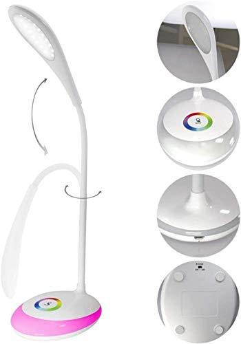 Kleurrijke oogbescherming tafellamp, meisje slaapkamer nachtkastje licht USB-oplaadkabel kinderen leren licht met nachtlampje sfeer functie