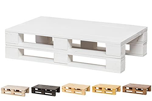 Tavolino ausiliario/tavolino da salotto per pallet nuovi – Tavolo vintage – rustico, 100 cm x 60 cm, bianco