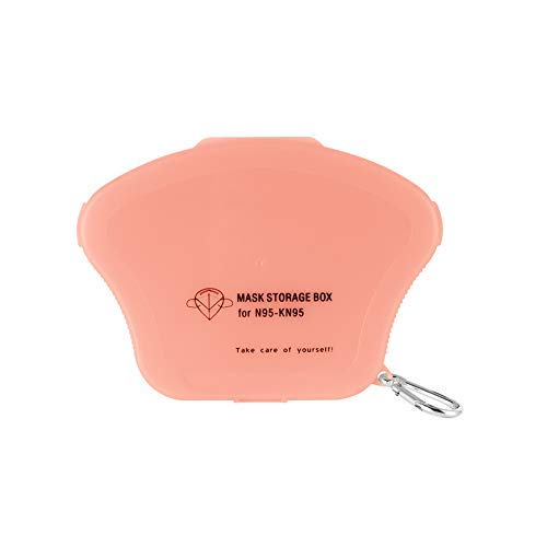 Ousyaah Caja de Almacenamiento Portátil para Mascarillas Desechables para Niños Caja de Limpieza a Prueba de Polvo y Humedad Clip de Almacenamiento (Rosado)