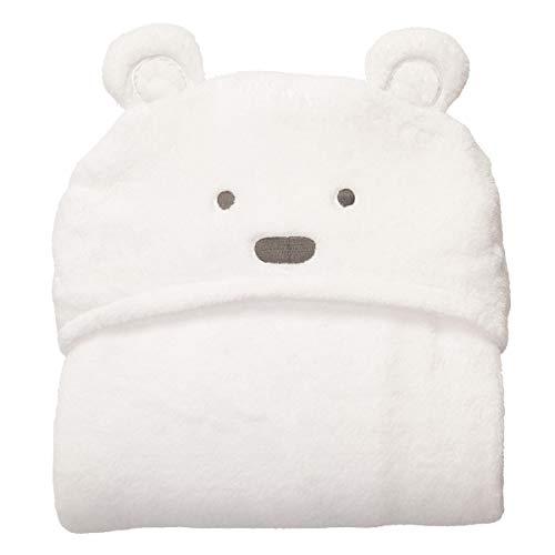 HaiQianXin Suave y cómodo bebé con Capucha Capucha Swaddle Manta Albornoz Lindo Animal Oso Abrigo niño pequeño Toalla de baño (Color : White Bear with Small Eyes)