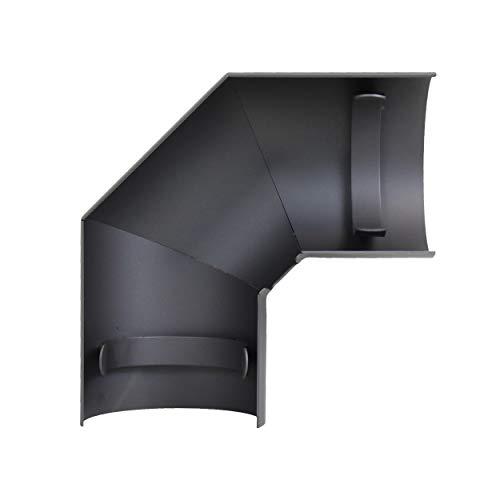 LANZZAS Ofenrohr Hitzeschild/Thermoschutz für Bogen 90° seitlich - im Durchmesser Ø 120 mm - Farbe: gussgrau - Rauchrohr Hitzeschutz