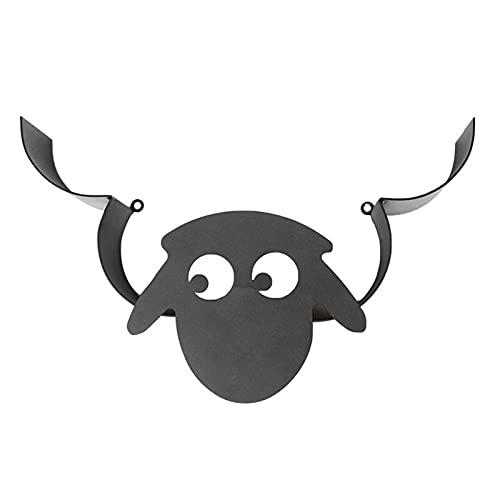 Porta Carta Igienica Toilette Roll Holder Sheep Wall Mount Black Metal Paper WC WC Decorazioni Decorative Decorative Carta Decorativa Deposito del Ferro da Bagno Conservazione (Color : Black)