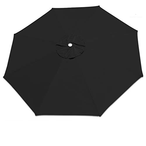 Strong Camel Replacement Patio Umbrella Canopy Cover for 13ft 8 Ribs Umbrella Taupe (Canopy ONLY) (Black)