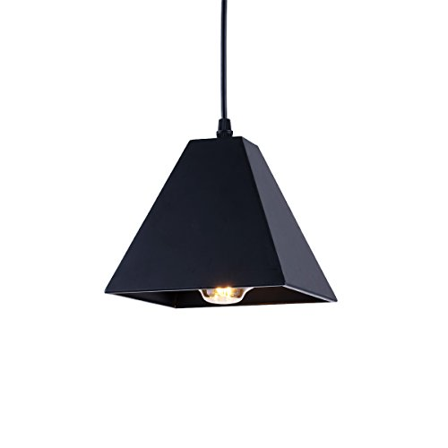 ZHMA Pendant Light Retro Industrial Black Pendant Lighting, Small Barn Farmhouse Pendant Light for Kitchen Island, Metal Shade Ceiling Hanging Lights E26/E27
