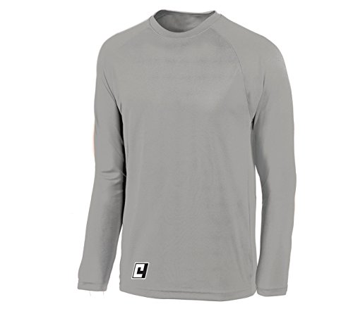 Basketball Shooting Shirt, Long Sleeve - Without Customization - Color Athletic Gray - Size Adult L