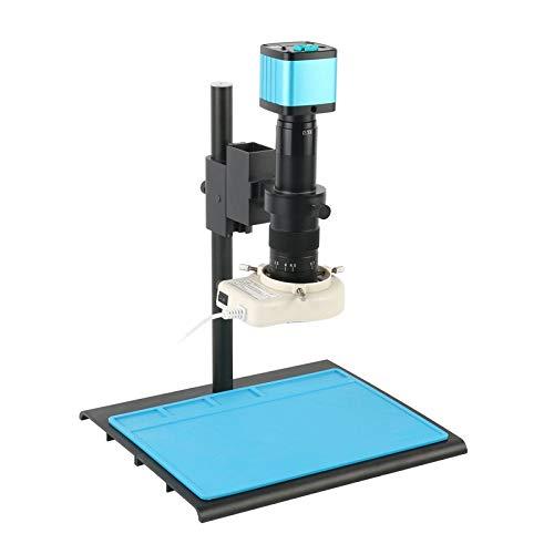 SUNTAOWAN 4k 2K 1080p 48MP Industrielles Video-Labor HDMI USB-Mikroskop-Kamera IR-Fernbedienung 100x 200x 180x 300x-Objektiv für Telefon PCB-Reparatur (Color : 180X)