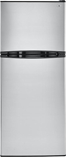 Haier HA10TG21SS 24 Top Freezer Refrigerator with 9.8 cu. ft. Total Capacity Frost-Free and Glass Shelves in Stainless
