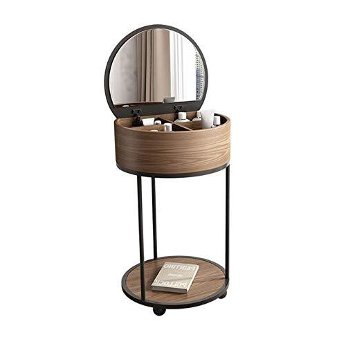 noyydh Ronda de Vanity Table Set-Flip-Top Tocador, con Almacenamiento de Las heces, for el Dormitorio, Cuarto de baño, Dormitorio (Color : Dresser)