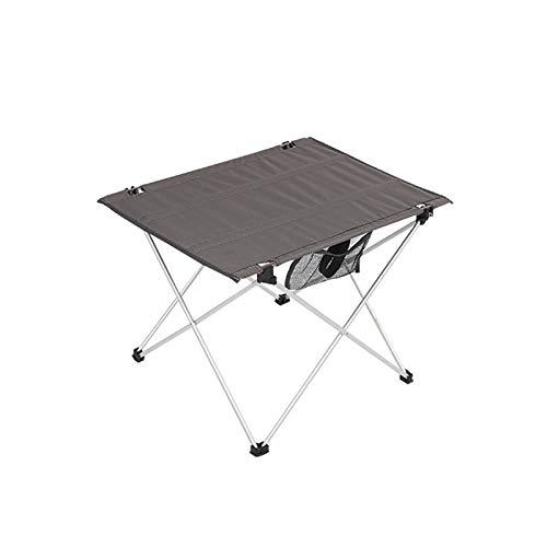 N/C Table Pliante Extérieure Portable en Tissu Ultra-léger Table De Pique-Nique De Camping Portative Imperméable Et Résistante à La Saleté pour L'extérieur Pique-Nique Plage Randonnée Pêche,DarkGray