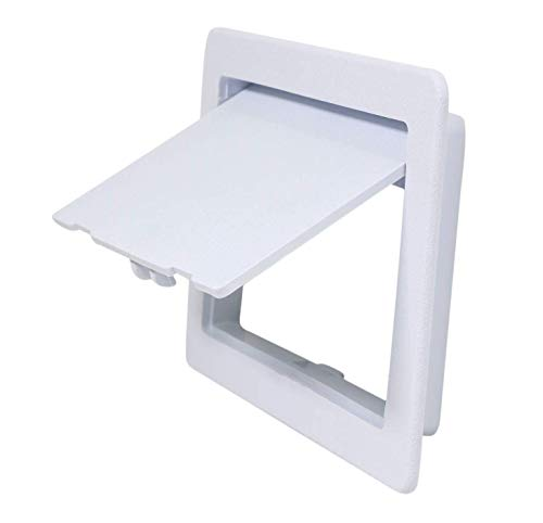 SUPPLY GIANT AP46 Plastic Panel for Drywall Ceiling 4 x 6 Inch Reinforced Plumbing Wall Access Door Removable Hinged White, 4 x 6