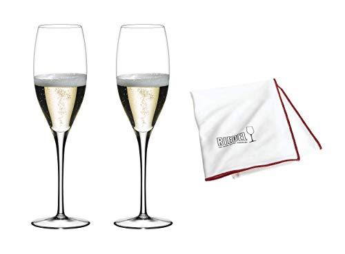 Riedel Sommeliers Vintage Champagner Vorteilsset 2er Set mit Glastuch (2440/28 + 5010/07) Vorteilsset