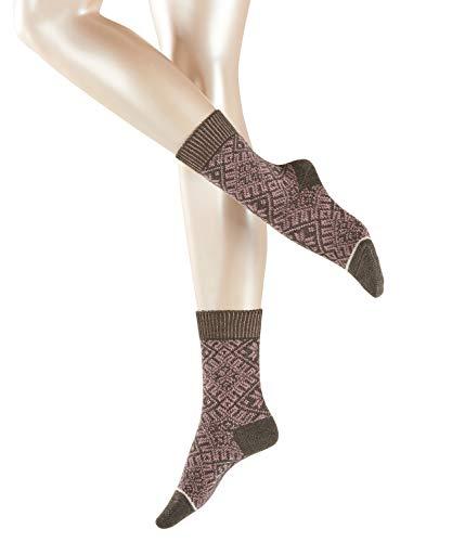 ESPRIT Damen Socken Norwegian Boot, Wolle/Baumwollmischung, 1 Paar, Braun (Dark Mahagony 5015), Größe: 39-42