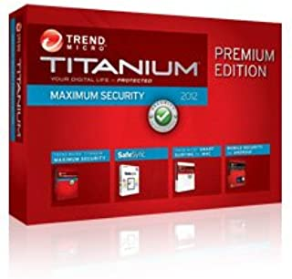 Trend Micro Titanium, Maximum Security Software, Premium Edition with 50GB Safesync storage and Mobile Security Personal Edition 3 users