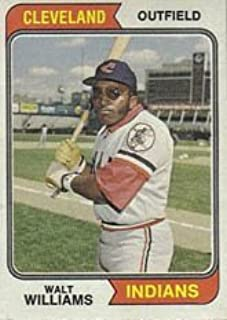 1974 Topps Regular (Baseball) Card# 418 Walt Williams of the Cleveland Indians ExMt Condition