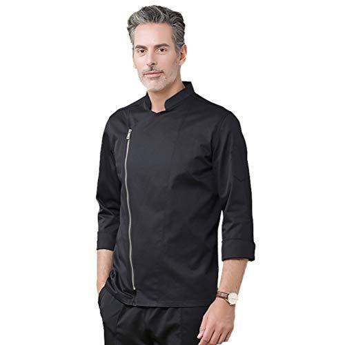 Nanxson Unisex Kochjacke Bäckerjacke Herren Damen Langarm Küche Reißveschluss Kochbekleidung Uniform CFM0058