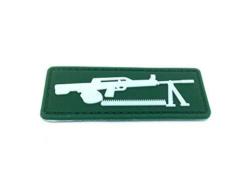Máquina Pistola Verde mg-42brilla en la oscuridad PVC Airsoft Patch