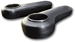 Madjax Black Arm Rests with Cup Holder Rear Seat Kit (Universal for All Golf Carts)