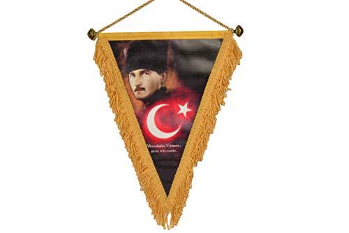 Gök-Türk Fahne Bayrak Mustafa Kemal Atatürk Türkiye Türkei Ay Yildiz Stern mit Mond - aus Kunstleder