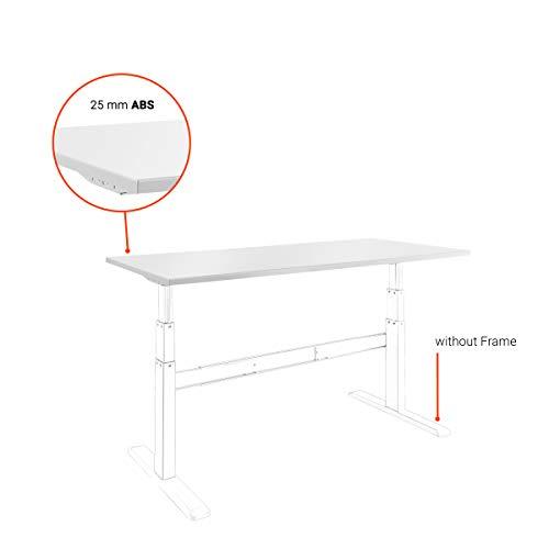 celexon Tischplatte - 150x75 cm - weiß - passend zu eAdjust-65120 - Melaminharz beschichtet - Spankernplatte -ABS Umleimer