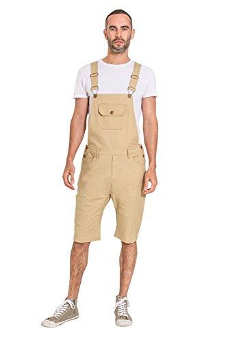 USKEES Herren Latzhose Overall Shorts - Sand Kurze Latzhose latz Shorts JESSESHORTSPONGE-36W