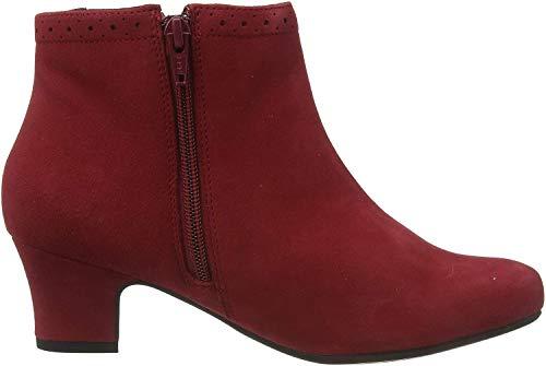 Hotter Damen Dallas Kurzschaft Stiefel, Rot (Claret Brogue 349), 41 EU