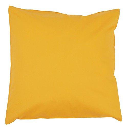 Hans-Textil-Shop Kissenbezug 40x40 cm Gelb Baumwolle