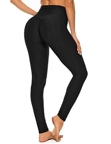 RIOJOY  Women's Honeycomb Celulite Leggings, Scrunch/Ruched Butt Fitness Running Tights, High Waist...