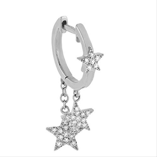 Good Fashion 925 Sterling Silver Stud Earrings For Women Crystal Zircon Earring Jewelry Pendientes Minimalist Gift