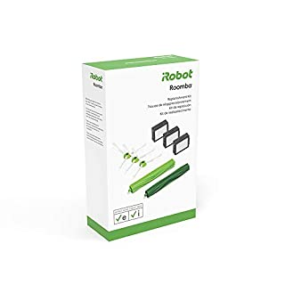 iRobot Authentic Replacement Parts- Roomba e and i Series Replenishment Kit, (3 High-Efficiency Filters, 3 Edge-Sweeping Brushes, and 1 Set of Multi-Surface Rubber Brushes),Green - 4639168 (B07H7CMVWH) | Amazon price tracker / tracking, Amazon price history charts, Amazon price watches, Amazon price drop alerts