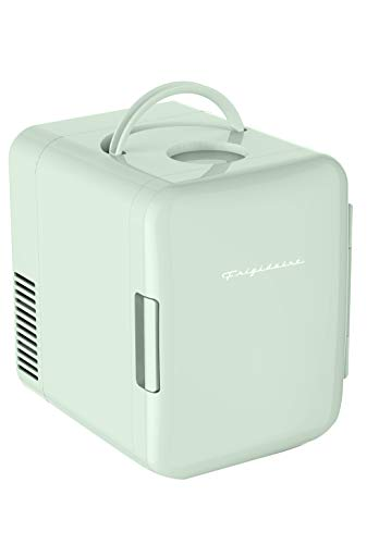 Frigidaire Mini Portable Compact Personal Fridge Cools & Heats, 4 Liter Capacity Chills Six 12 oz Cans, 100% Freon-Free & Eco Friendly, Includes Plugs for Home Outlet & 12V Car Charger - Mint