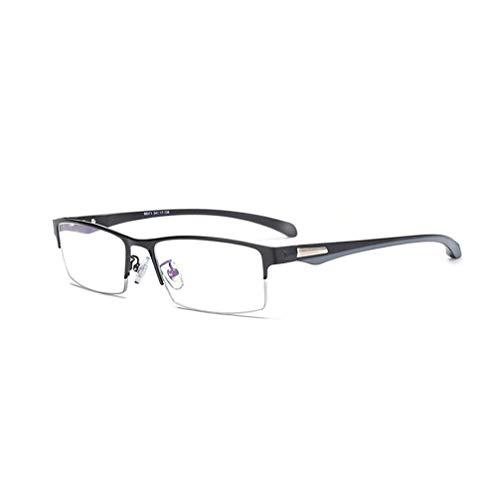 YAO YU Bloqueo de Luz Azul Photogrochromic Progressive Lectura Multifocal Gafas, Mde Aleación Half Rimmed Polarized Sunglasses, para Lectores de Computadoras Anti Eyestrein/Negro/1