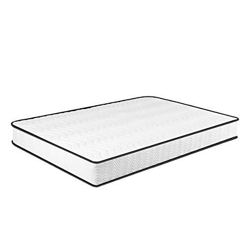 Matratze 90x200, 7-Zonen Federkernmatratze Memory Foam & Soft Gestrick H3, Optimale Unterstützung von Lenden- und Beckenbereich Classic Spring (90 * 200 * 20cm)