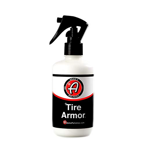 Adam's Tire Armor - No-Sling, Extremely Long Lasting Tire Dressing - Semi-Permanent, Acrylic Layer Gives Tires a Dressed or New Tire Look (8 oz)