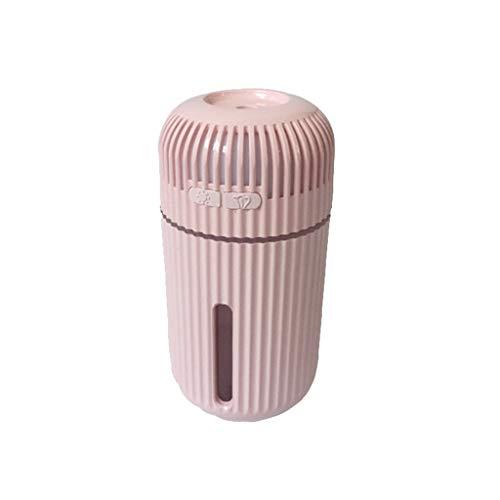 HHUPII Mini Spray USB Aroma DIFUSER DIFUSER HUMIDIENTE Air AROMATERAPY Purifier con humidificador portátil de luz Nocturna para Oficina en casa (Color : Pink)