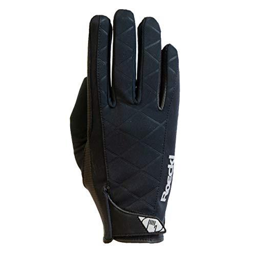 Roeckl Reithandschuhe R_WATTENS, gefütterter Handschuh, Winterhandschuh Farbe schwarz, Größe 7 1/2
