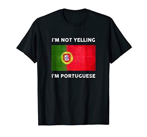 Ich schreie nicht, ich bin Portugiese Trikot | Portugal Flag T-Shirt
