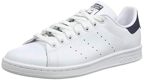 adidas Originals Stan Smith, Zapatillas de Deporte para Unisex adulto, Blanco (Running White/New Navy), 42 2/3 EU