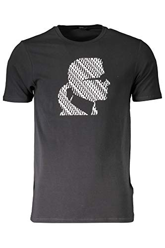 Karl Lagerfeld, T-Shirt, Graphic Font, Schwarz / Weiß, Schwarz XXL