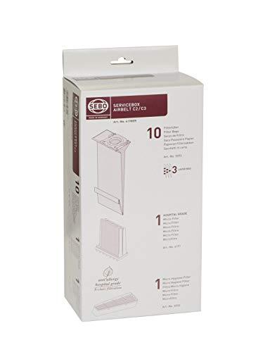 Sebo Service-Box-airbelt C2.1/C3/C3.1 Filterset, Papier