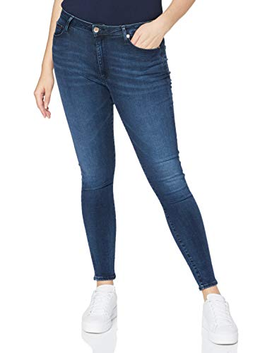 Tommy Jeans Mujer Sylvia Hr Super Skny Dyldbs Pantalones, Dynamische Lora Dark Blue Str, W31/L30