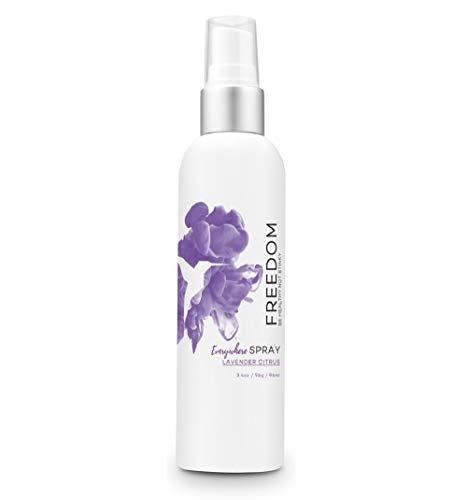 Freedom Natural Deodorant Spray - Baking Soda Free, Aluminum Free, Non Toxic, Great for Sensitive Skin for Women & Men, EWG Verified, Cruelty Free, Lavender Citrus, 3.4 Oz